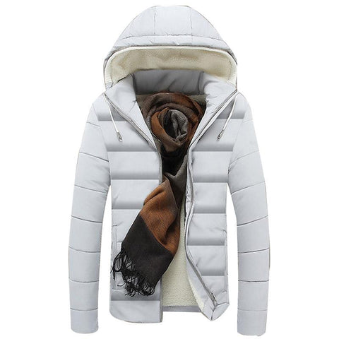 Winter Hooded Solid Color Men's Fashion Coat New Design Male Asian Size Top Selling Coat