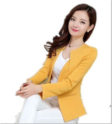 Women Slim Blazer Coat Casual Jacket Sleeve One Button Suit Outerwear blazer Ladies Blazers  Jackets - babiesrhere