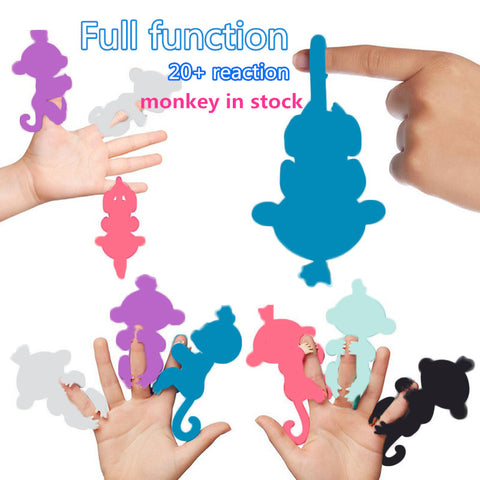 2017 Finger baby Monkey Rose Interactive Baby Pet Intelligent Toy Tip Monkey Smart Electronic Pet finger monkey
