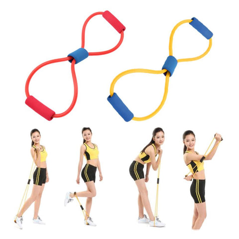 Resistance 8 Type Muscle Chest Expander Rope Workout Pulling Fitness Exercise  Tube Sports Yoga