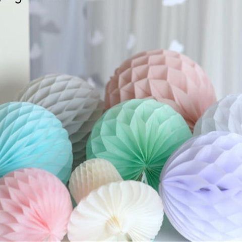 "1pcs 6""(15cm) Tissue Paper Honeycomb Balls Flower Pastel  Wedding Party Birthday Decor Hen Party Baby Shower Supplies"