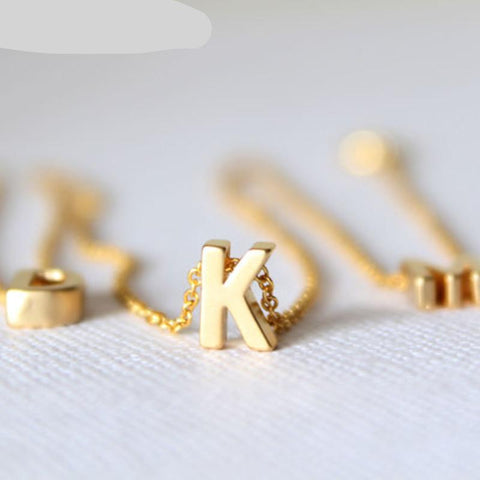 Gold initial necklace gold letter necklace  initials name necklaces pendant for women girls gift
