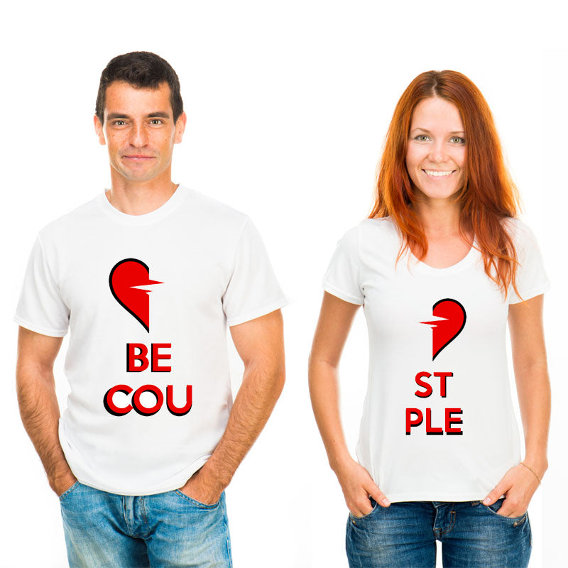 New Fashion Lovers Heart Of The Couple T Shirt Women Summer Romantic