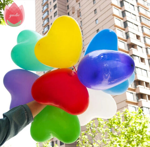 FREE: 10pcs/lot 10inch heart latex balloon air balls inflatable wedding birthday party decoration toys