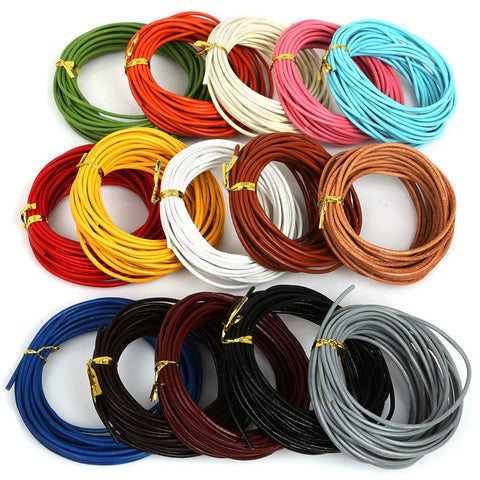 Genuine Leather Cords String Cord For Jewelry Making Bracelet Necklace Craft Jewelry Accessories