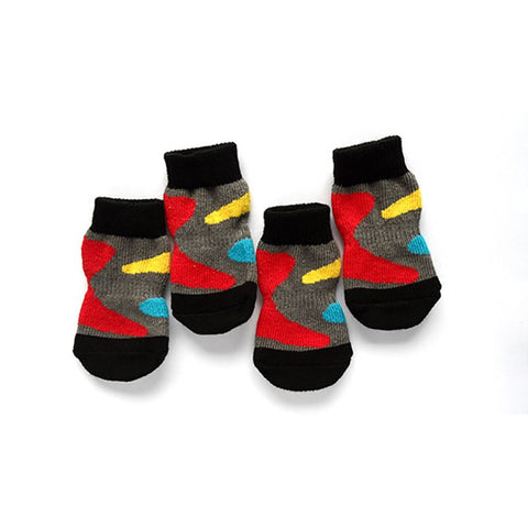 Pet Product 4 PCS/set Small Pet Dog Doggy Shoes Lovely Soft Warm Knitted Socks