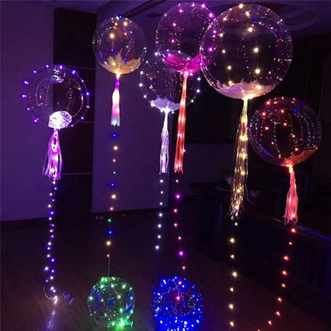 Balloon String Bubble Colorful Balloon Light Valentine's Day Wedding Christmas Decoration - babiesrhere