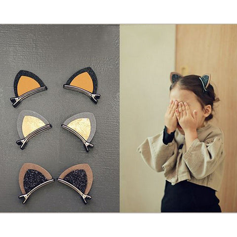 1Pcs Cat Ear Style Baby Hair Clip Accessories Children Hair Infant Hairgrips Summer Style Headband