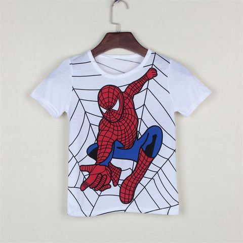 New 2017 boy's t shirt popular hero cotton short-sleeved printing children's cartoon