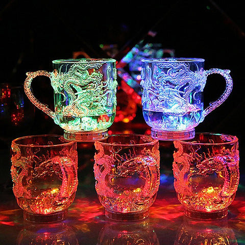 Creative Dragon LED Inductive Rainbow Party Flashing Light Whisky Mug Beer Cup Christmas