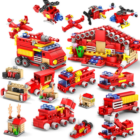 414pcs Fire Station Building Blocks Compatible legoed city Educational Construction Bricks Toy - Babiesrhere