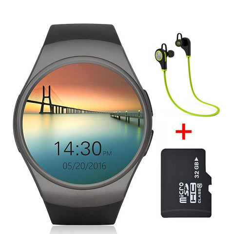 Smart Watch For Android phone With Camera Bluetooth Smart Watch Pedometer SIM Card - babiesrhere