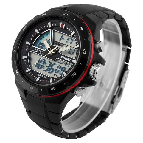 Sports Watches Men Fashion Casual Digital Quartz Wristwatches Alarm