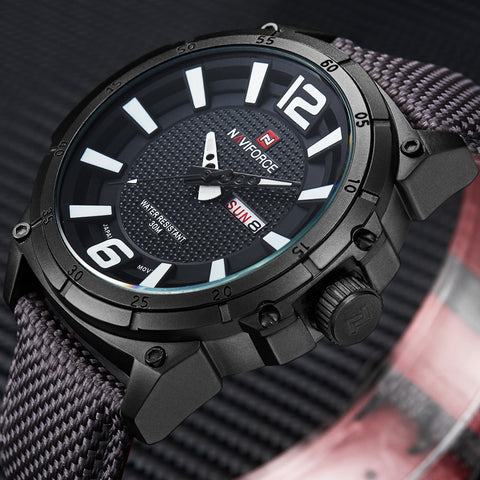Top Brand Military Watches Men Fashion Casual Canvas Leather Sport Quartz Wristwatches