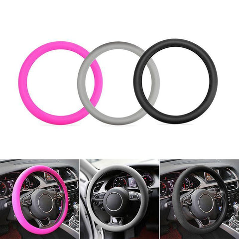 Soft Silicone Steering Wheel Cover Shell car wheel cover for VW Audi Nissan Peugeot Mazda Toyota Lexus Honda Kia