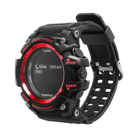 Smart Sport Watch OLED Display Heart Rate Waterproof Push Message for Android IOS Phone