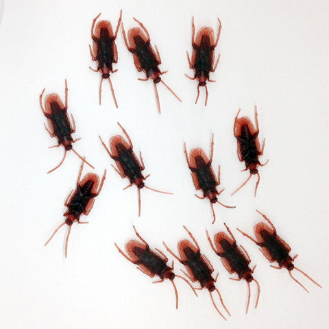 10Pcs/Set Prank Funny Trick Toys April Fool 's Day/Halloween toy Simulation Cockroach Roaches Gags Practical Joke Horror Toy - Babiesrhere