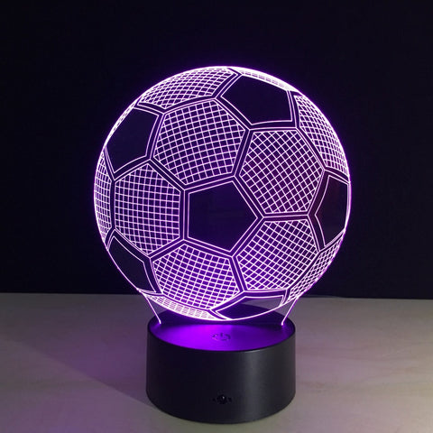 Creative illusion Lamp LED Valentines Day Gift Lights 3D football Discoloration