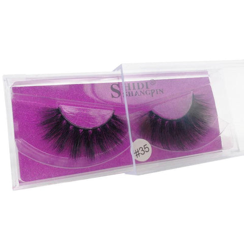 New 1 pair mink false eyelashes natural makeup 3D mink lashes fake eyelash thick for beauty - babiesrhere