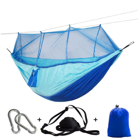 Portable Mosquito Net Hammock Tent With Adjustable Straps And Carabiners Large
