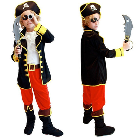 Halloween Costumes Kids Boys Pirate Costume Cosplay set for Children
