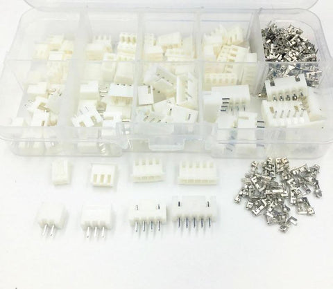 230pcs XH2.54 2p 3p 4p 5 pin 2.54mm Pitch Terminal Kit / Housing / Pin Header Connector Adaptor - babiesrhere