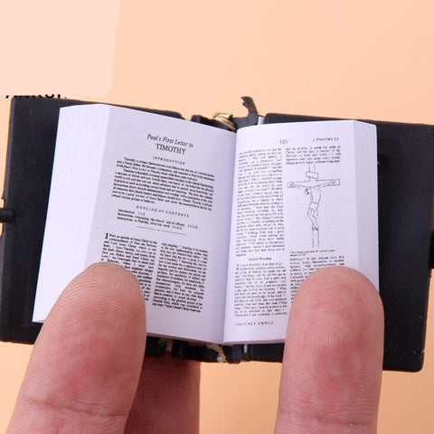 Cute Mini Spanish English HOLY BIBLE Keychains Religious Christian Jesus Cross Keyrings - babiesrhere