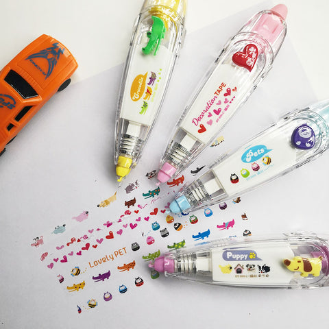 Korea Creative Correction Tape Sticker Cute Cartoon Book Office School Supplies