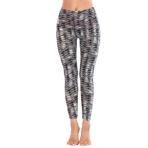 LEGGINGS LADIES/WOMEN COMFORTABLE SPORTS CASUAL PRINT COLOR 3192