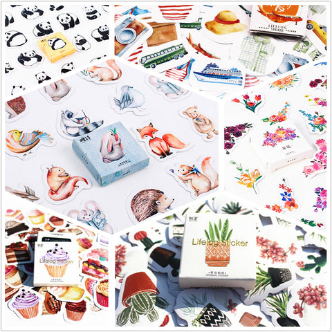 45pcs/pack Flowers Totem Memo Stickers Pack Posted It Kawaii Planner Scrapbooking Stickers