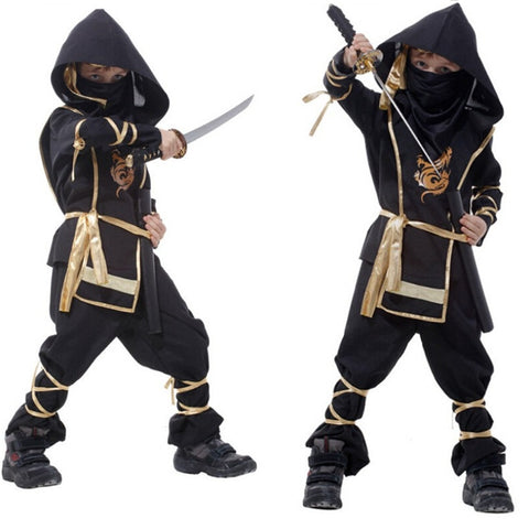 Kids Ninja Costumes Purim Party Boys Girls Warrior Stealth Halloween Assassin Costume