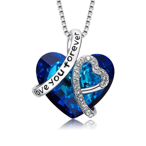 Love You Forever Necklace Crystals from Swarovski Valentine's Day Gift For Women Jewelry