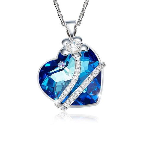 S925 Sterling Silver Crystals from Swarovski Necklaces For Women Valentines