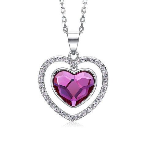 S925 sterling silver necklace  Swarovski from crystals necklace women pendants Valentine gift