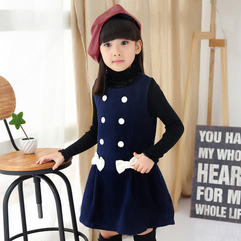 Girls Dress Winter Kids Hairy Dresses For Girl Fashion Children Sleeveless Dress For Girl - babiesrhere