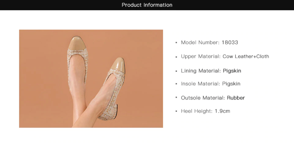 Leda Flat Ultra Seller Shoe Color Apricot Online Shop