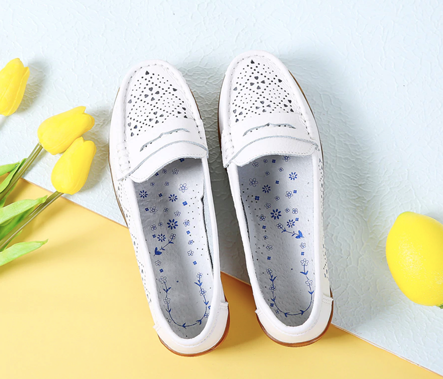 Silbia Loafers  Ultra Seller Shoes Color Cutout White Cheap Flat