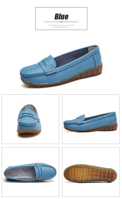 Silbia Loafers  Ultra Seller Shoes Color Blue Cheap Flat
