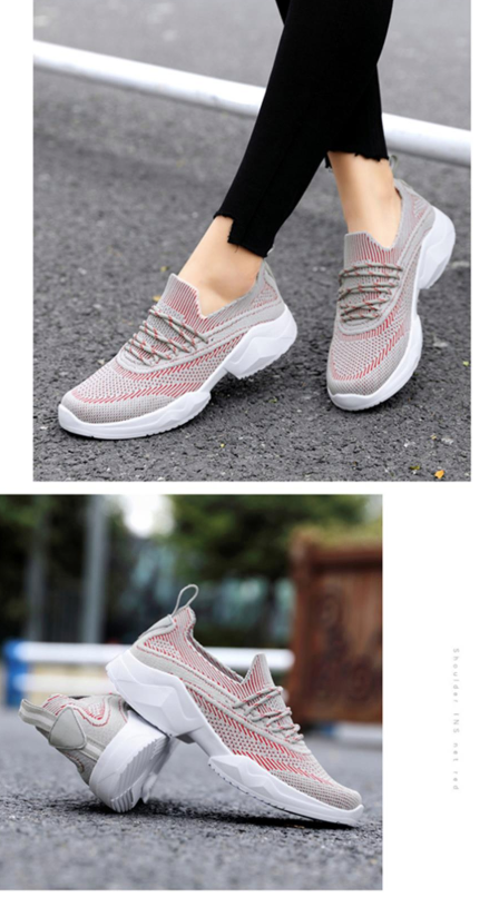 Vania Sneakers Shoe Color Grey/Red Ultra Seller Shoes Cheap Casual