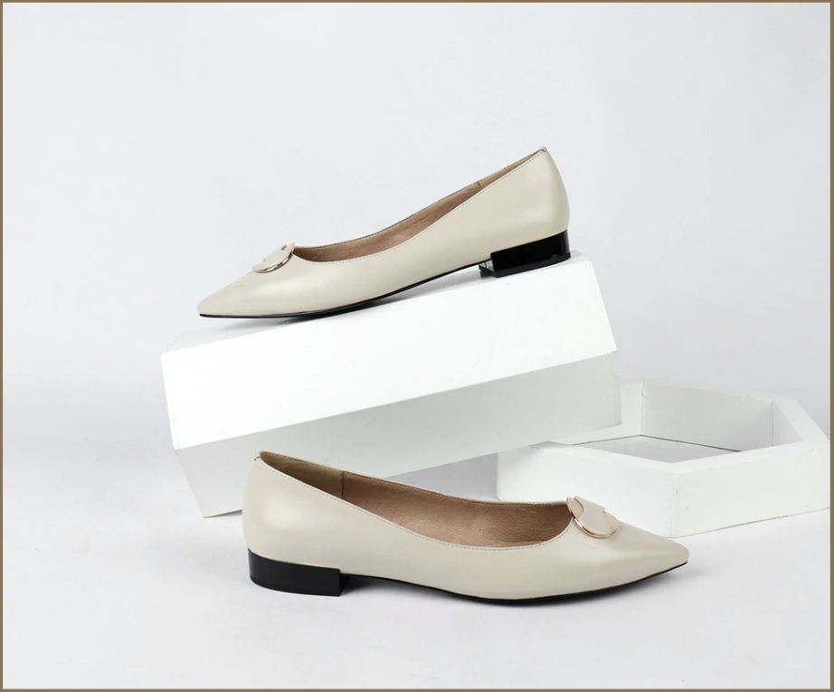 Smith Flat Shoes Casual Leather Ultra Seller Shoes Color Beige Online Shop