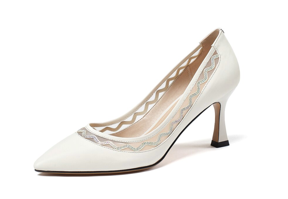 Moore Pumps Shoes Ultra Seller Shoes Leather Color Creamy-white Online Store