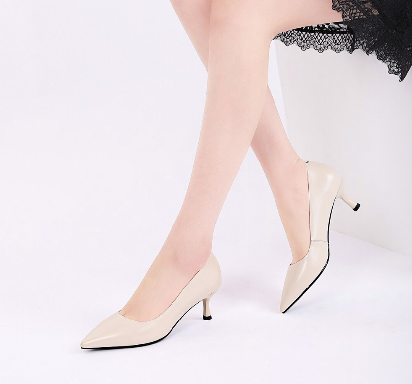 Lewis Pumps Shoe Leather Color Rice white Ultra Seller Shoes Onlne Store