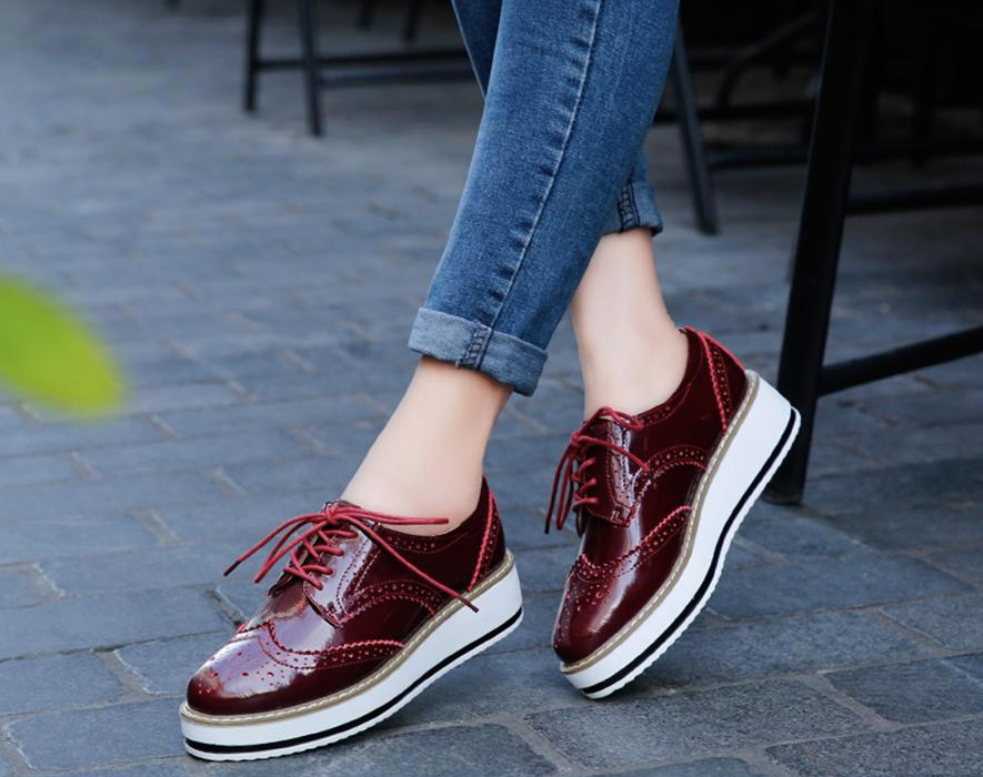 Romero Flat Shoe  Color Wine Red Casual Ultra Seller Shoes Online Cheap