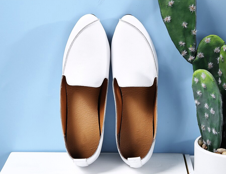 Ruiz Flat Loafers Shoes Ultra Online Seller Cheap Color White