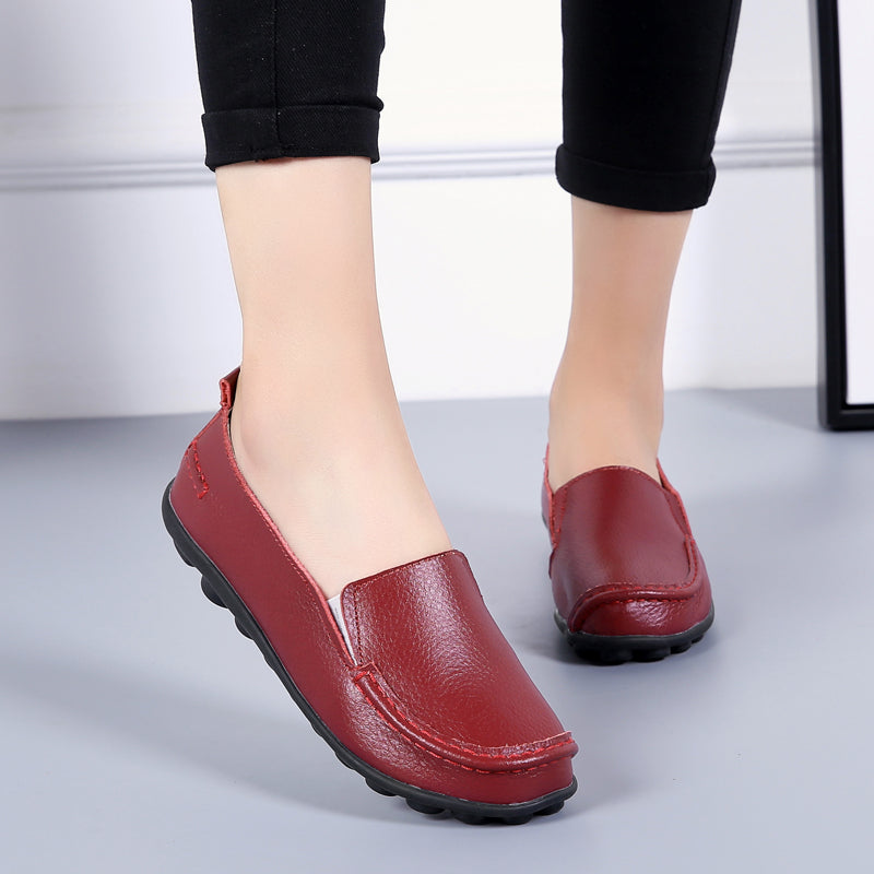 debbie womens loafer shoes slip on wine red ultra seller shoes