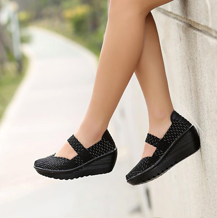Ashoka Platform Shoe Color Black Comfortable Ultra Seller Shoes Online Store