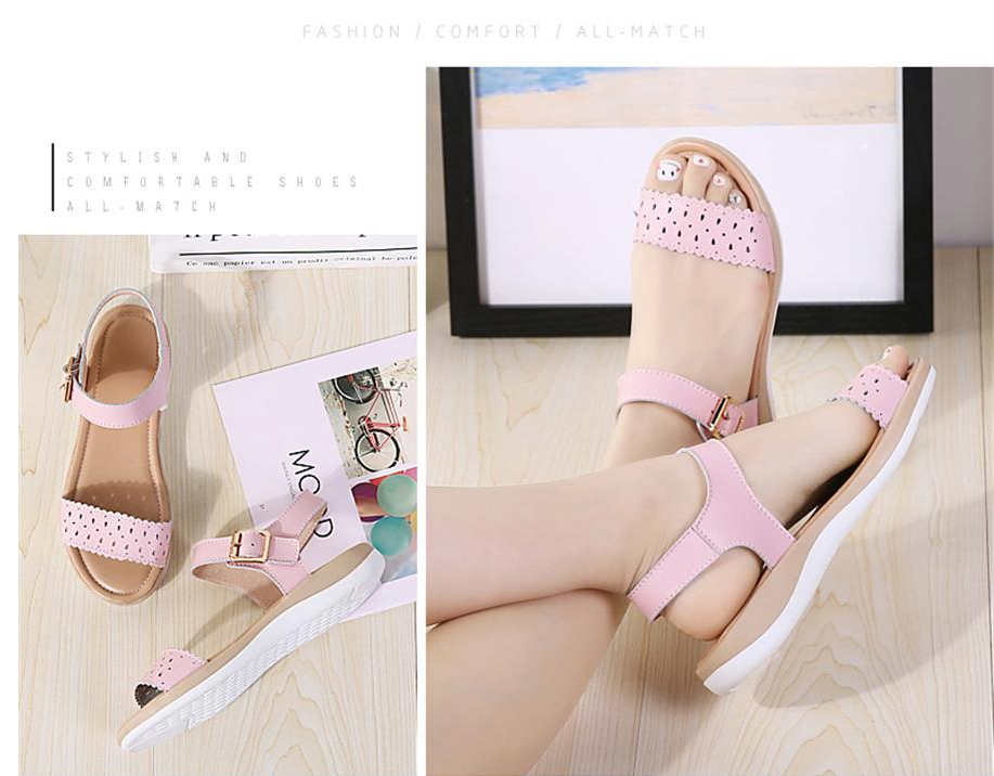 Asteria Sandals Shoe Color Pink Leather Ultra Seller Shoes Cheap Online