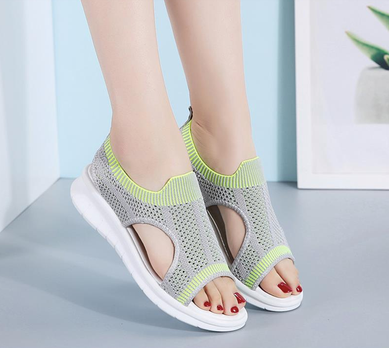Benzai Flat Shoe Color Grey/Green Comfortable Cheap Ultra Seller Shoes Online USA