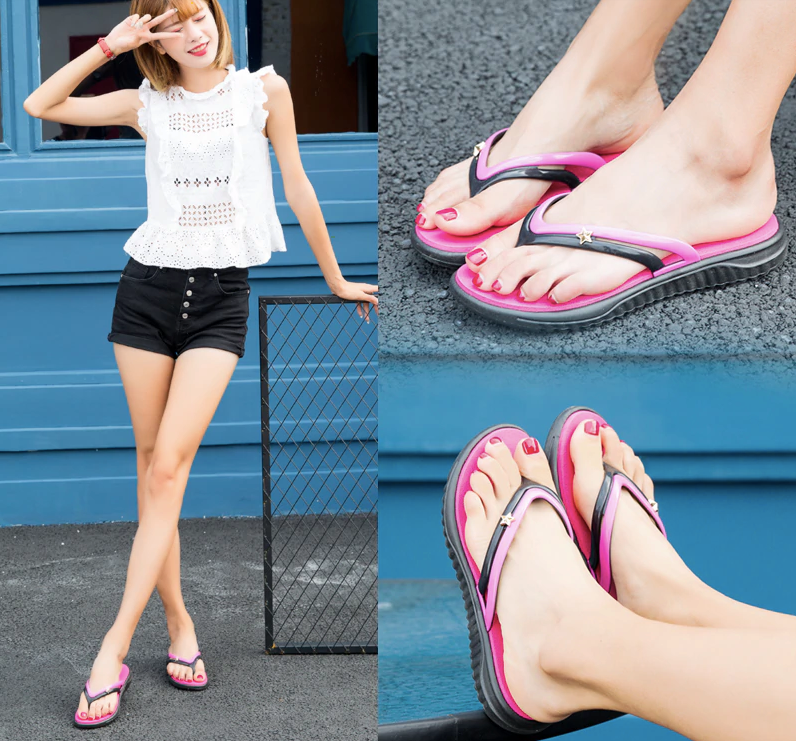 Flip Flops Bluefish Shoe Color Red Ultra Seller Shoes Comfortable Slippers For Women Beach Shoes Online Store