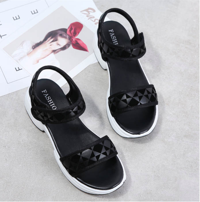 Canga Wedges Shoe Color Black Ultra Seller Shoes Comfortable and Cheap Wedges